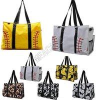 Wholesale yoga shopping for sale - Group buy Softball Baseball Handbag Large Travel Duffle Bag Canvas Designers Soccer Women Shopping Totes Sports Yoga Fittness Shoulder Bags hot D81311