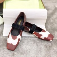 Wholesale colorful wedding flats for sale - Group buy Fashion Red Bottom Graffiti Colorful Women Flat Loafers High Quality Spring Wedding Dress Shoes Vintage Classic Letter Elastic Ballet Shoes