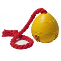 Wholesale jolly ball resale online - With Rope Dog Jolly Ball Training Toy Gift Bite Resistant Tooth Cleaning Feeder