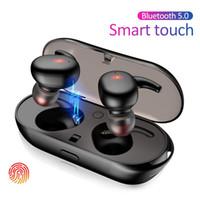 Wholesale designed earphones resale online - Y30 TWS Bluetooth Earphones Wireless Headsets Waterproof Earbuds Mini In ear HIFI Headset Cradle Design