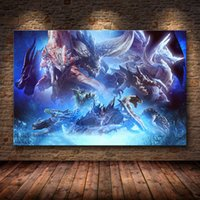 Wholesale hunters painting resale online - 20 Styles Canvas Painting Wall Posters and Prints Hunter world Mural HD Wall Art Pictures For Living Room Dining Restaurant Hotel Home Decor