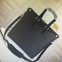 M40566 lu explorer briefcase tote handbag eclipse canvas men crossbody bags classic mono flower leather briefcases fashion man shoulder bag