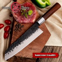 Wholesale professional chefs knives resale online - Handmade Chef Knife inch Japanese Kiritsuke Shape High Carbon cr13 Steel Professional Kitchen Knives Cooking Slicing Tools