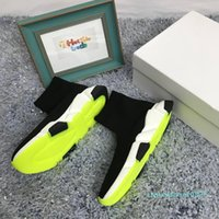Wholesale lime green sock shoes resale online - Lime Green Sock Shoes Casual Shoe Speed Trainer High Quality Sneakers Speed Trainer Sock Race Lime Green Shoes men and women Luxury Shoe c25