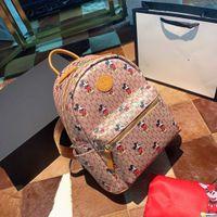 Wholesale retro school bags resale online - Top FashionCasual PU Leather Backpacks for Teenage Girls Backpack Women Floral Retro Mochila Escolar Shoulder Bag Designer School Bags