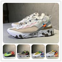 Wholesale one running shoes resale online - men women Reacts Element one Running Shoes Designer s thea mesh Breathable chaussure homme Sneakers Sports Trainers shoe