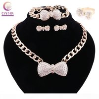 Wholesale aqua blue jewelry sets for sale - Group buy Women Colors Jewelry Sets Gold Plated Statement Necklace With Earrings For Party Wedding Boho Crystal Necklace New Arrival