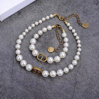 Wholesale pearl mother for sale - Group buy Dijia D letter CD pearl necklace female choker temperament simple bracelet jewelry