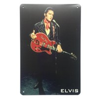 elvis tin sign venda por atacado-poster do sinal de Elvis Retro Tin metal do vintage para a caverna do homem Garage chique adesivo de parede Cafe Bar decoração de casa