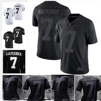 football ncaa achat en gros de-# 7 Double Stitched Colin Kaepernick Jersey All Black Jersey 2.0 Icône Fidèle à 7 NCAA IMWITHKAP Maillots