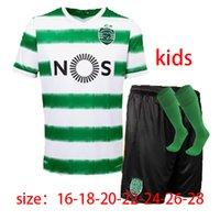 Wholesale kids soccer ronaldo for sale - Group buy men kids socks Sporting Soccer jersey Lisbon Football Shirts Ronaldo FERNANDES NANI Football jersey Maillot