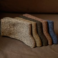 Wholesale wools mens socks resale online - Men s thick cotton socks Special winter thick warm socks high quality winter mens harajuku retro warm wool dress socks pairs