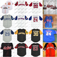 schwarze liga baseball groihandel-Schwarz Crackers Negro Liga Button-Down-Big Boy Homestead RETRO Baseball Jersey Baseball-Stadion-Qualitäts-Stickerei