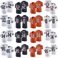 Wholesale football 52 jersey resale online - Khalil Mack Mitchell Trubisky Walter Payton Cole Kmet New Football Jerseys