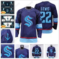 Wholesale 2020 Custom Seattle Kraken Ice Hockey Jersey Blank Navy Size Youth Adult Men Women All Stitched Embroidery Drop Shipping