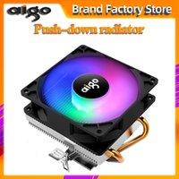 Wholesale copper cpu resale online - Aigo PC CPU Cooling Fan Cooler Copper tube CPU Cooler Fan Radiator Aluminum Heatsink for LGA AM3 AM4