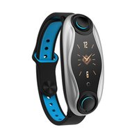 Wholesale chip tracker resale online - T90 Fitness Bracelet Wireless Bluetooth Earphone In Bluetooth Chip IP67 Waterproof Sport Smart Watch for Apple Andr