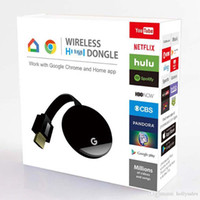 Wholesale google chromecast resale online - Mini dongle Miracast Google Chromecast G2 mirascreen wireless anycast wifi display P DLNA airplay for android TV stick for HDTV