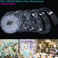 Wholesale arches balloons resale online - 5M Balloon Arch Kit Party Decoration Accessories Birthday Wedding Background Decoration Christmas Supplies DHL Free
