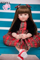 Wholesale lifelike baby dolls play resale online - 60cm Silicone Reborn Toddler Toy Lifelike Vinyl Princess Girl Baby Doll High Quality Birthday Gift Play House Toy LJ200827