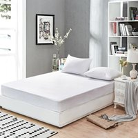 Wholesale hypoallergenic covers resale online - Smooth Waterproof Mattress Protector Cover for Bed Solid White Wetting Breathable Hypoallergenic Protection Pad Cover Mattress Pad