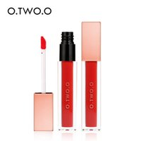Wholesale orange light lip gloss resale online - Hot sale O TWO O Velvet Matte Liquid Lipstick Colors Lip Paint Waterproof Long Lasting Moisturizer Lip gloss DHL fast shipping
