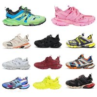 Wholesale casual shoes men s resale online - 2020 Balanciaga Triple S track runners shoes men women yellow red black casual sport shoes trainers sneakers size rigX