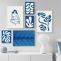 Wholesale painting nudes girls resale online - Abstract Nordic Poster Wall Art Print Canvas Painting Nude Girl Geometric Leaf Agave Quotes Wall Pictures For Living Room Decor