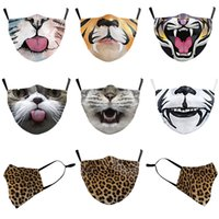 Wholesale female cat mask for sale - Group buy Masks Cartoon Animals Cats Tiger Mouth Leopard D Digital Printing Dust proof and Haze proof Male and Female Adults Can Put Filter Masks