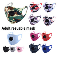 Wholesale respirator mask for dust for sale - Group buy Ultrathin Summer Face mask Camouflage Mouth Masks Camo Print Earloop Respirator Anti Dust Face Mask For Man and Woman MK46