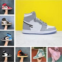 Wholesale mens home shoes resale online - Woman basketball shoes NRG Homage to Home Black Red Mens Obsidian UNC Patent Jumpman stylist Sneakers trainers With Box