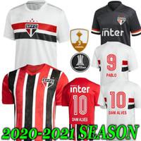 Wholesale 2021 Sao Paulo FC PATO Alves Home White Mens soccer jerseys HERNANES PABLO Sao Paulo football shirt camisa de futebol