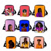 Wholesale animal handbags for children resale online - African Girls Pattern Messenger Bag for Women and Men Cross Body Bag Fanny Packs Children Shoulder Bags Outdoor Designer Handbags D8510