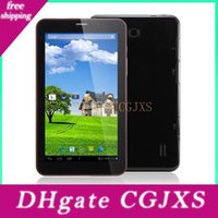 Wholesale android phones 7inch screens resale online - 7inch Phablet Pc Android Dual Core g Tablet Pc Mtk8312 ghz Phone Call Wifi Capacitive Screen Free