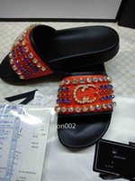 Wholesale styles slipper for man resale online - Top Diamond Style Slides sandals Medusa Scuffs causal summer slippers shoes for man
