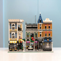 Wholesale city building for sale - Group buy In Stock MOC Creator City Street The Assembly Square Set Building Block Bricks Toys