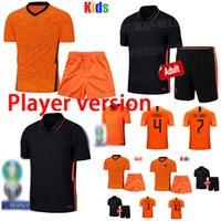 Wholesale netherlands football shirt resale online - Player version Netherlands soccer jerseys DE JONG WIJNALDUM Holland football kits shirt VIRGIL jersey STROOTMAN MEMPHIS Men