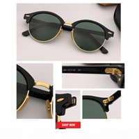 Wholesale circles glasses resale online - new Retro Classic Vintage Round Sunglasses Men Brand Designer circle Sun Glasses Women top quality green lens Eyewear Driving