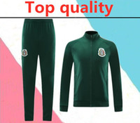 Wholesale mexico training suit resale online - TOP Quality Mexico soccer training suit hoodie jacket set CHICHARITO national team Football Maillot de foot training suit