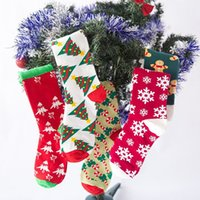 Wholesale small gifts for men for sale - Group buy Christmas decorations Christmas socks gift bag Christmas For men and women Snow green Guai small tree socks T2I51343