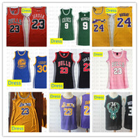 Wholesale jersey dress basketball for sale - Group buy Women Stitched Dress Cheap James Curry Rondo Irving Thompson Basketball Dress Outdoor Breathable Sports Jersey