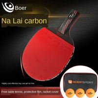 Wholesale s6 nano online – custom Boer series S6 table tennis high end professional horizontal racket direct racket table tennis board nano carbon King finished