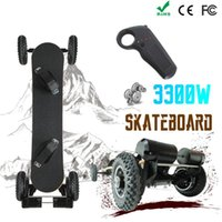 Wholesale off road tires resale online - Electric Mountain Skateboard W of powe V Lithium Battery Off Road Skateboard Pneumatic Tire Layers Bamboo Layers Maple