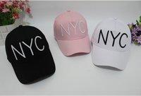 Wholesale south korea baseball hat resale online - 7j4yv South Korea NYC cap baseball male tongue female couple sunshade duck and hat street hip hop baseball outdoor Hip hop hat letter c h3rgL