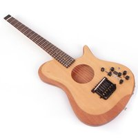 Wholesale acoustic electric guitars for sale - Group buy headless electric acoustic silent left right hand guitar travel mini portable built in effect