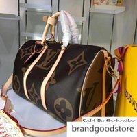 Wholesale man s bag canvas resale online - Brand BANDOULIERE Large Capacity Women Travel CM Men Shoulder Duffel Bags Carry Luggage KEEPALL Bag BANDOUIERE s