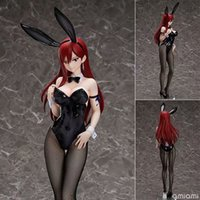 ingrosso fata di coda anime pvc-Azione liberazione Fairy Tail Erza Scarlet Bunny Girl Anime Figura Sexy Girl PVC Figure Toys Collection Modello Doll regalo LJ200924