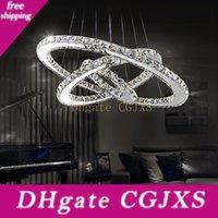 Modern Chandelier LED Crystal Pendant Lamp Round Ceiling Light Hanging Light