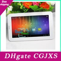 Wholesale 7inch allwinner tablet pc resale online - 7inch Phablet Allwinner A23 g Gsm Phone Tablet Pc With Sim Card Slot m g Bluetooth Dual Camera Android Dual Core