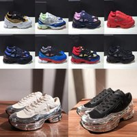 espadrilles d'argent achat en gros de-2020 New Originals mode Luxe Raf Simons Ozweego III Sport Hommes Femmes Maladroit Metallic Silver Sneakers Dorky Chaussures Casual Taille 36-4 OcUK #